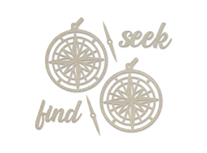 New Adventures - Chipboard set, Seek and Find