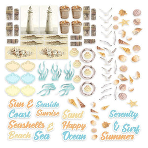 Seaside Girl - Diecut Ephemera Set
