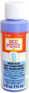 Plaid - Mod Podge - Sheer Colour - Blue (4oz)