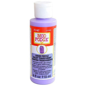 Plaid Mod Podge Sheer Colour - Purple (4oz)