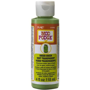 Plaid Mod Podge Sheer Colour - Green (4oz)