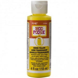 Plaid Mod Podge Sheer Colour - Yellow (4oz)