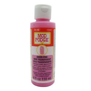 Plaid Mod Podge Sheer Colour - Pink (4oz)