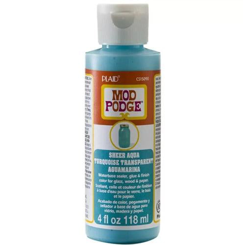 Plaid - Mod Podge - Sheer Colour - Aqua (4oz)
