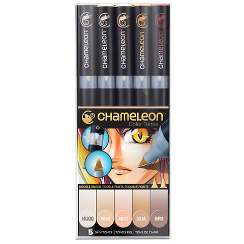 Chameleon Alcohol Pen - 5 Pen Set - Skin Tones