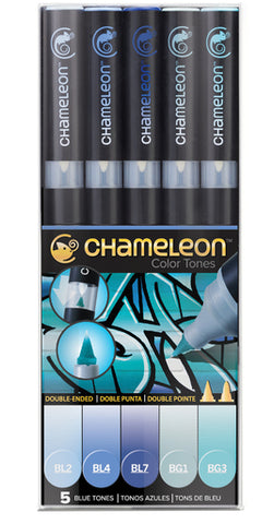 Chameleon Alcohol Pen - 5 Pen Set - Blue Tones
