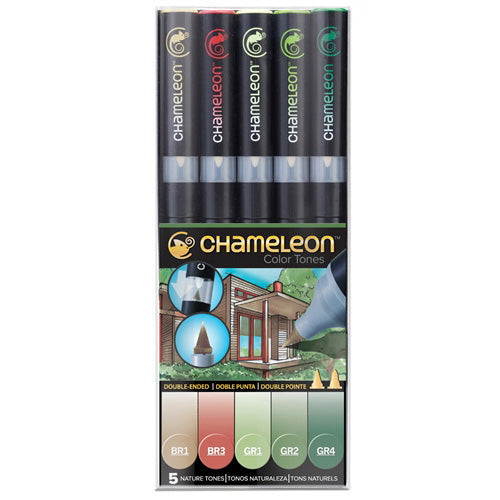 Chameleon Alcohol Pen - 5 Pen Set - Nature Tones