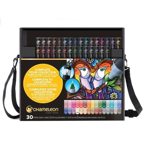 Chameleon Alcohol Pen - 30 Pen Set + Free Nibs & Tweezers - NEW COLOURS