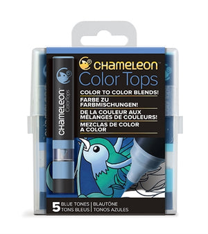 Chameleon Color Tops - 5 Tones Set - Blue Tones