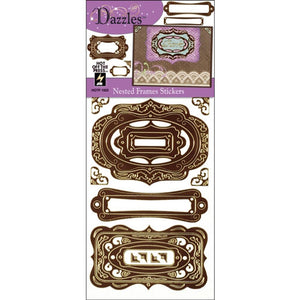 Hot off the Press - Dazzles Stickers - Brown Nested Frame