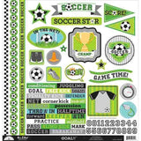 Doodlebug - Stickers - This & That Goal (Soccer/Football) (12 x 12)