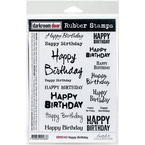 Darkroom Door Rubber Stamps - Happy Birthday