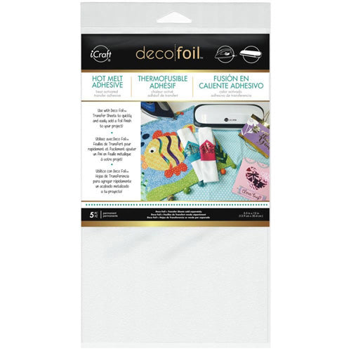 Thermoweb - Deco Foil - Iron On Adhesive Transfer Sheet (5.5 x 12 inches) 5/Pkg