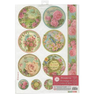 Stamperia Rice Paper Pack A4 - Roses and Birds