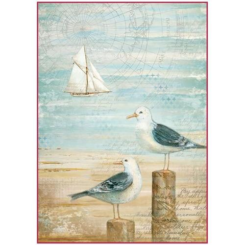 Stamperia Rice Paper Pack A4 - Sea Land Seagulls