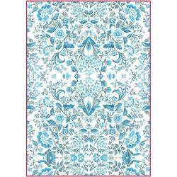 Stamperia Rice Paper Pack A4 - Blue Arabesque