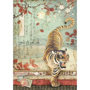 Stamperia Rice Paper Pack A4 - Tiger