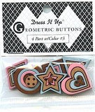 Dress It Up - Geometric Buttons #3 (6 pcs)