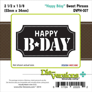 DIE - VERSON - SWEET PHRASES DIE - HAPPY BIRTHDAY