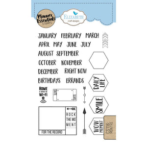 Elizabeth Craft Clear Stamp - Months | Elizabeth Craft