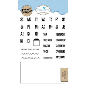 Elizabeth Craft Clear Stamp - Schedule