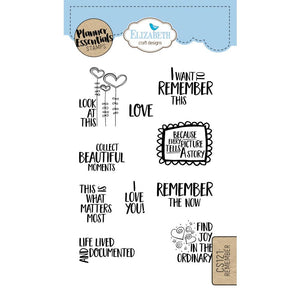 Elizabeth Craft Clear Stamp - Remember