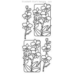 Elizabeth Craft Designs - Peel Off Stickers - Flowers In Frames 3 - Black