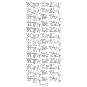 Elizabeth Craft Designs - Happy Birthday - Black