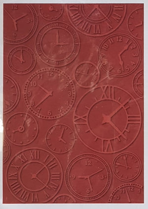 Craftwell eBosser A4 Emboss Folder - About Time (Teresa Collins) | Craftwell