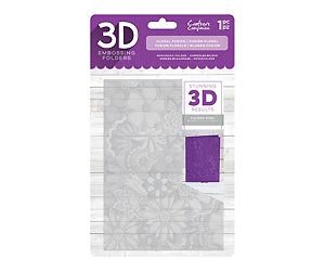 Crafter's Companion 3D Embossing Folder - Floral Fusion