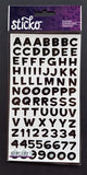 EK Success Stickers - Funhouse Black Metallic Alphanumeric (87 Pcs)