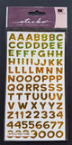 EK Success Stickers - Funhouse Yellow Metallic Alphanumeric (87 Pcs)