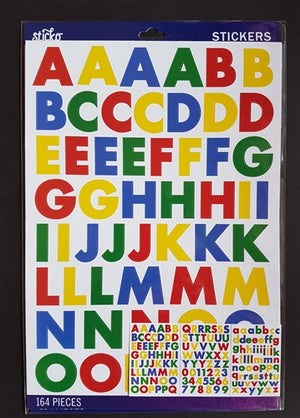 EK Success Stickers - Primary Fut Bold Large Alphanumeric (164 Pcs)