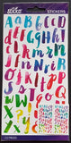 EK Success Stickers - Watercolor Small Alphabet (112 Pcs)