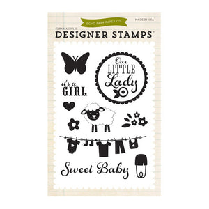 Echo Park - Bundle of Joy 2 - It's A Girl 4x6 Stamp