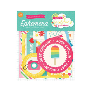Echo Park - Ephemera Pack - I Love Sunshine