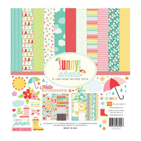 Echo Park - Collection Kit - Sunny Days Ahead - 12 x12 paper