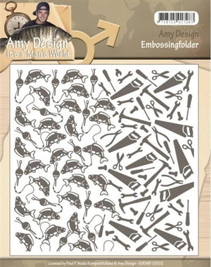Find It Trading (Amy Design) - It's a Man's World Embossing Folder (6 x 6)