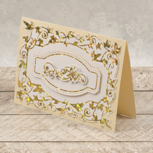 Esthetica Cut, Foil and Emboss Decorative Nesting Die - Flutterby Frames | Hobby Craft and Scrap