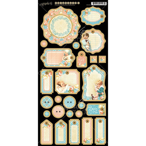 Graphic 45 - Precious Memories Journaling Chipboard