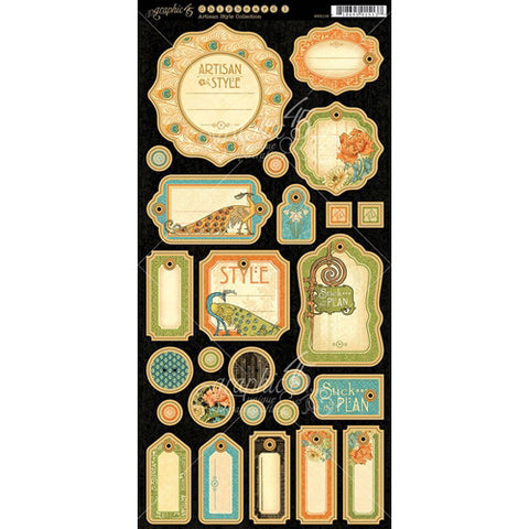 Graphic 45 - Artisan Style Journaling Chipboard