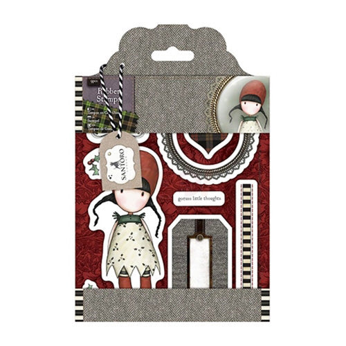 Santoro Gorjuss Tweed Rubber Stamps - Holly