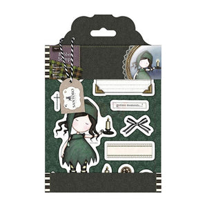 Santoro Gorjuss Tweed Rubber Stamps - Nightlife
