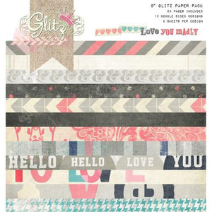 Glitz Love You Madly Paper Pad (8 x 8 Inch)