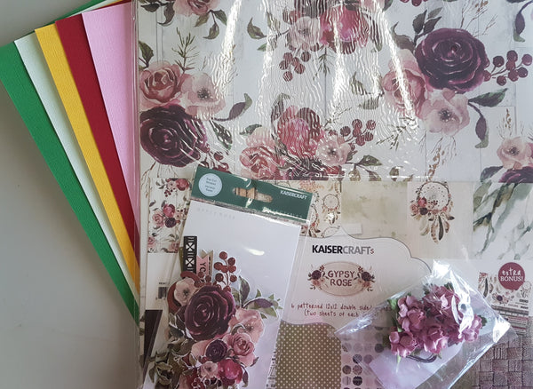 Kaisercraft Gypsy Rose Collection - Limited Edition 12x12 Pack