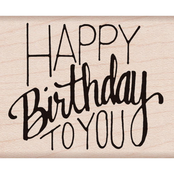 Hero Arts Mounted Rubber Stamp - Happy Birthday To You