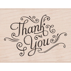 Hero Arts Mounted Rubber Stamp - Thank you w/ Flourishes