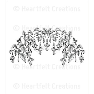 Heartfelt Creations Cling Rubber Stamp Set - Vining Fuchsia