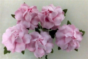 Handmade Mulberry Paper Flowers - 5 Stems (3 cm) - Light Pink