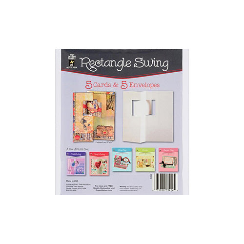 Hot Off The Press - Die Cut Card with Envelope - Rectangle Swing (5/Pkg)